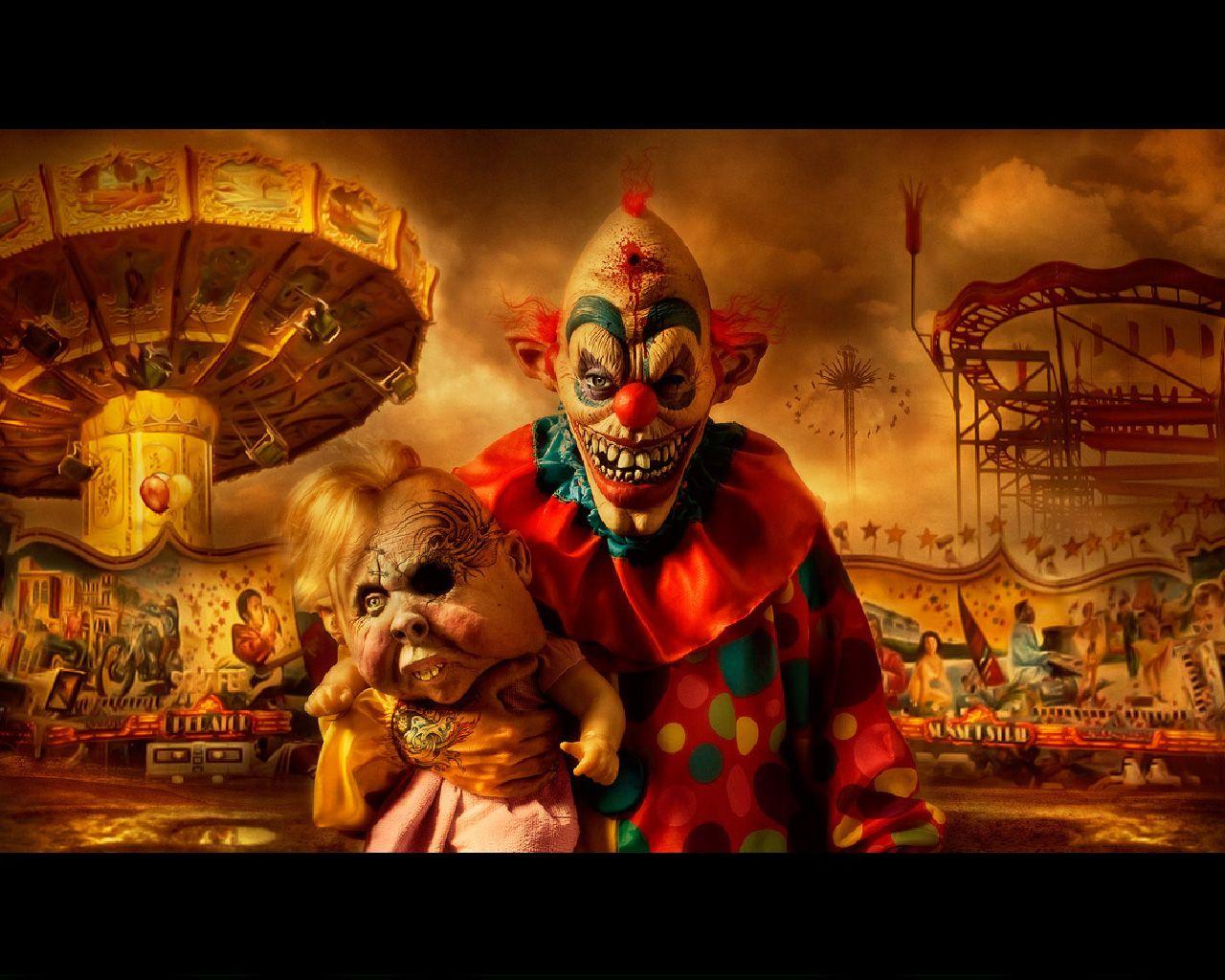 evil clowns | Carnival Of Horror, carnival, clown, evil, horror