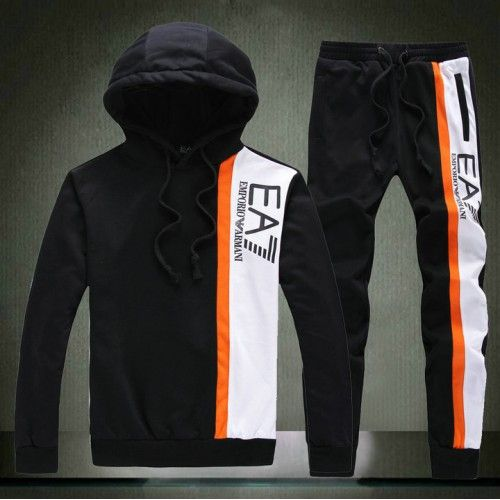 Emporio Armani Ea7 Mens Tracksuits Mens Sweatshirts Hoodie Mens Gym Fashion Mens Outfits