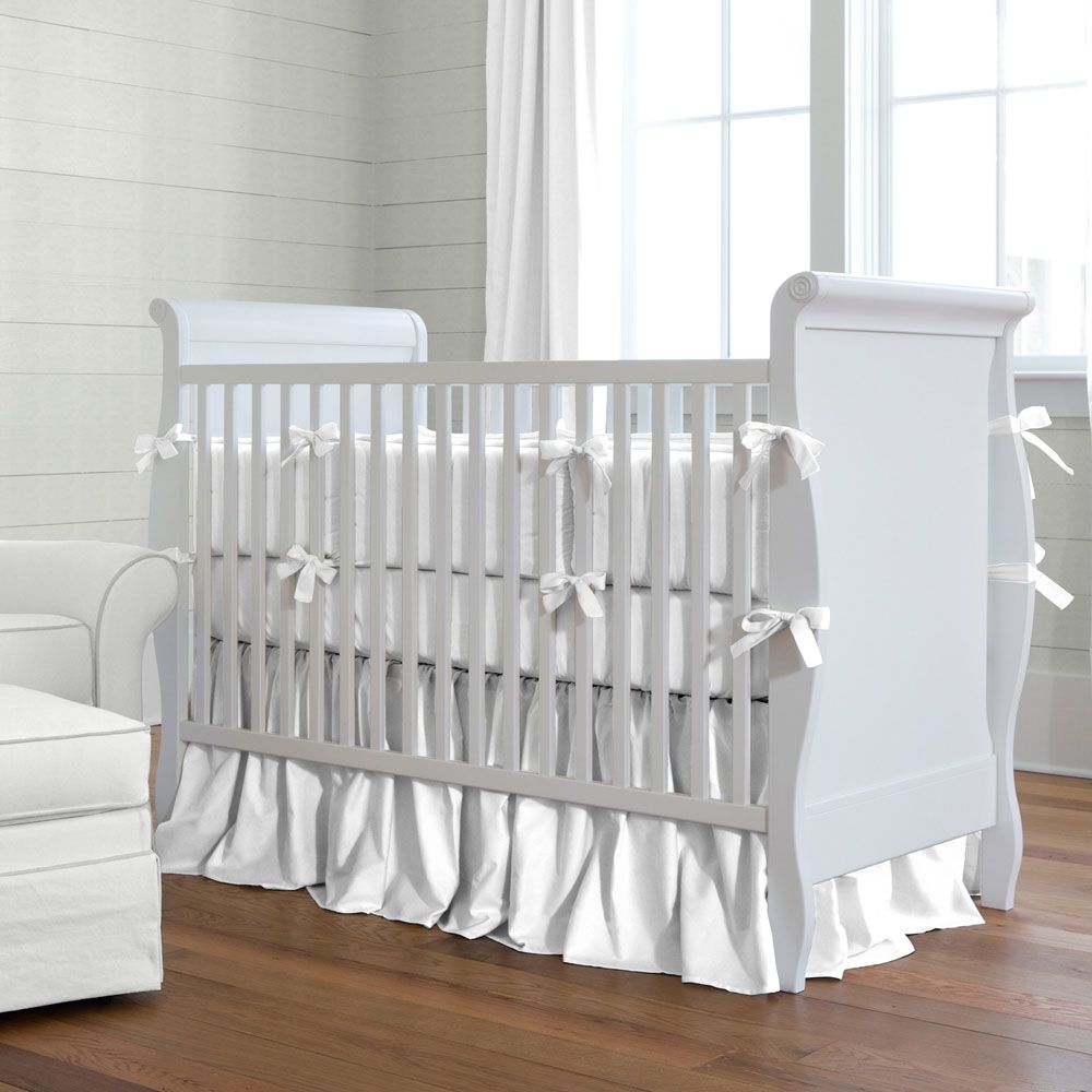 Solid White Baby Crib Bedding Collection Pink Crib Bedding