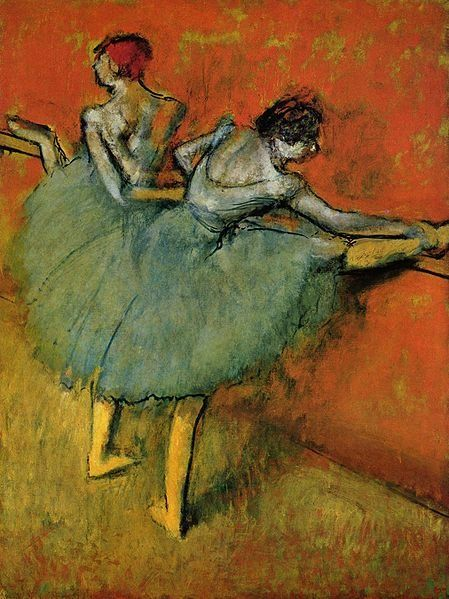 In Dancers At The Bar By Edgar Degas 1888 Artist Used Complementary Colors