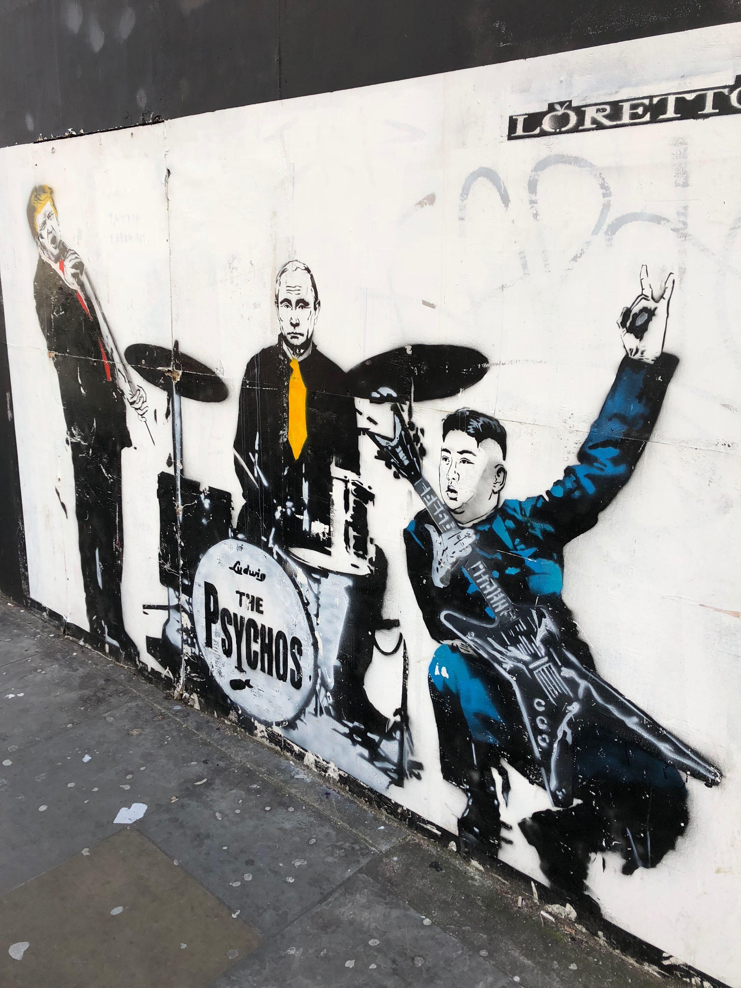banksy graffiti anarchy