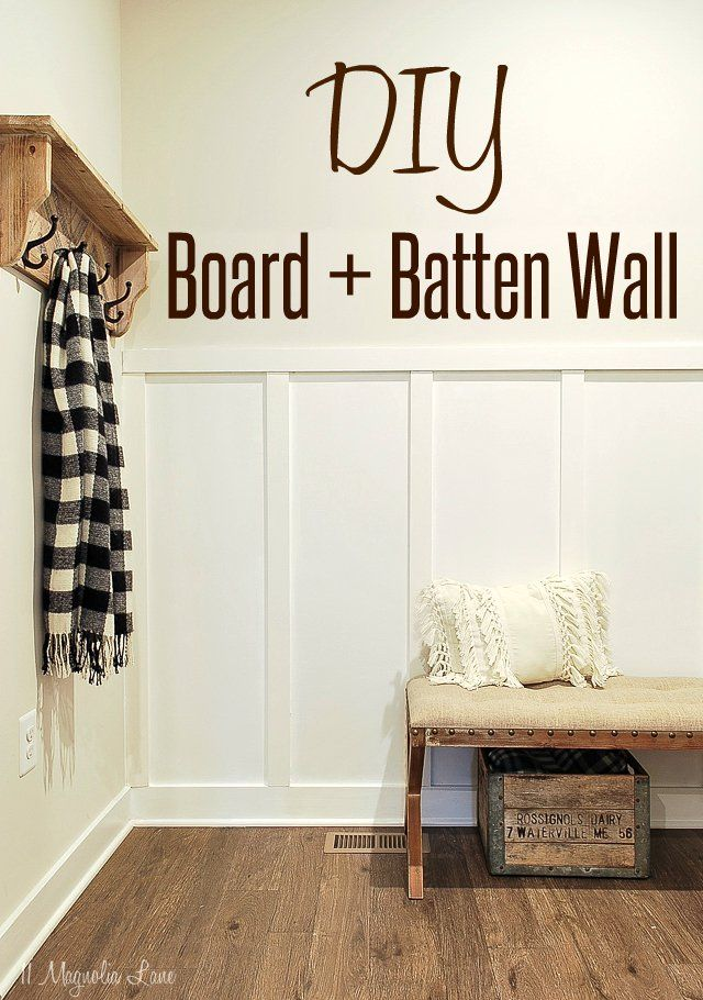 Easy Weekend Project: Board & Batten Trim #boardandbattenwall
