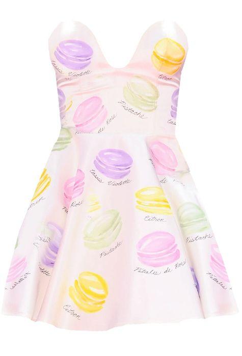 Kenley Collins Macaron custom hand painted dress