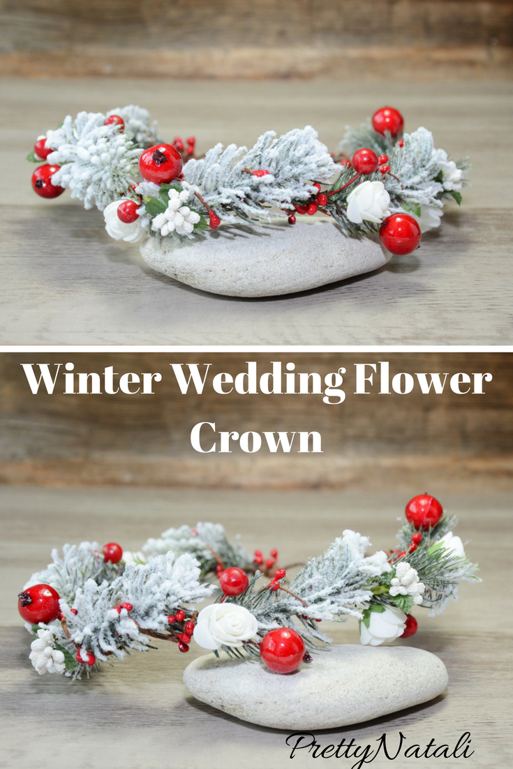 This lovely winter flower crown made of artificial berries this lovely winter flower crown made of artificial berries artificial flowers and faux christmas tree izmirmasajfo