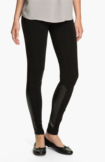 368f6dceab718 Rubbish® Faux Leather Panel Leggings (Juniors) available at #Nordstrom