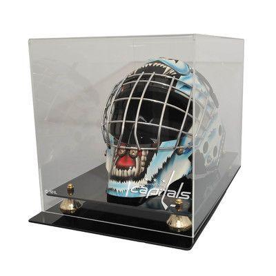Caseworks International NHL Goalie Mask Display Case with Gold Risers NHL Team: Washington Capitals, UV Protection: Yes