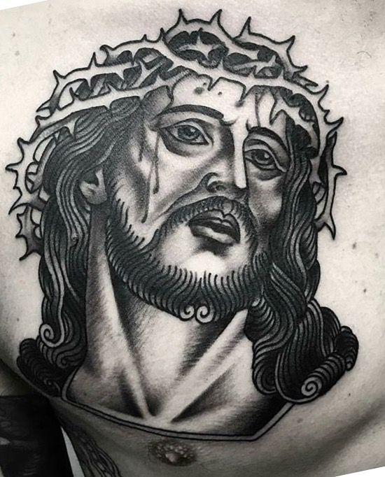 d11f2fbe00b73 Jesus Christ our lord & Savior TAttoo   Tattoos   Jesus tattoo ...