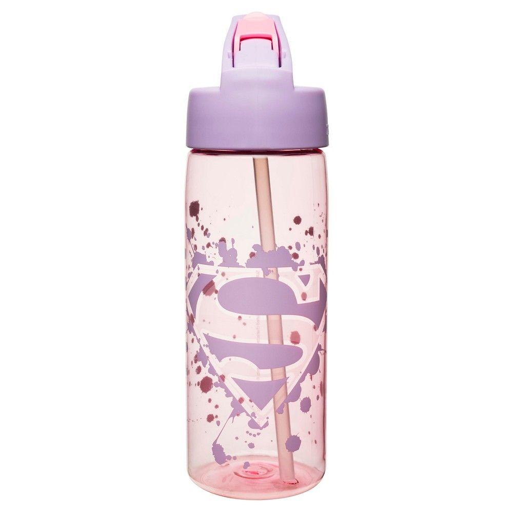 Super Girl 25oz Tritan Water Bottle Pink Products
