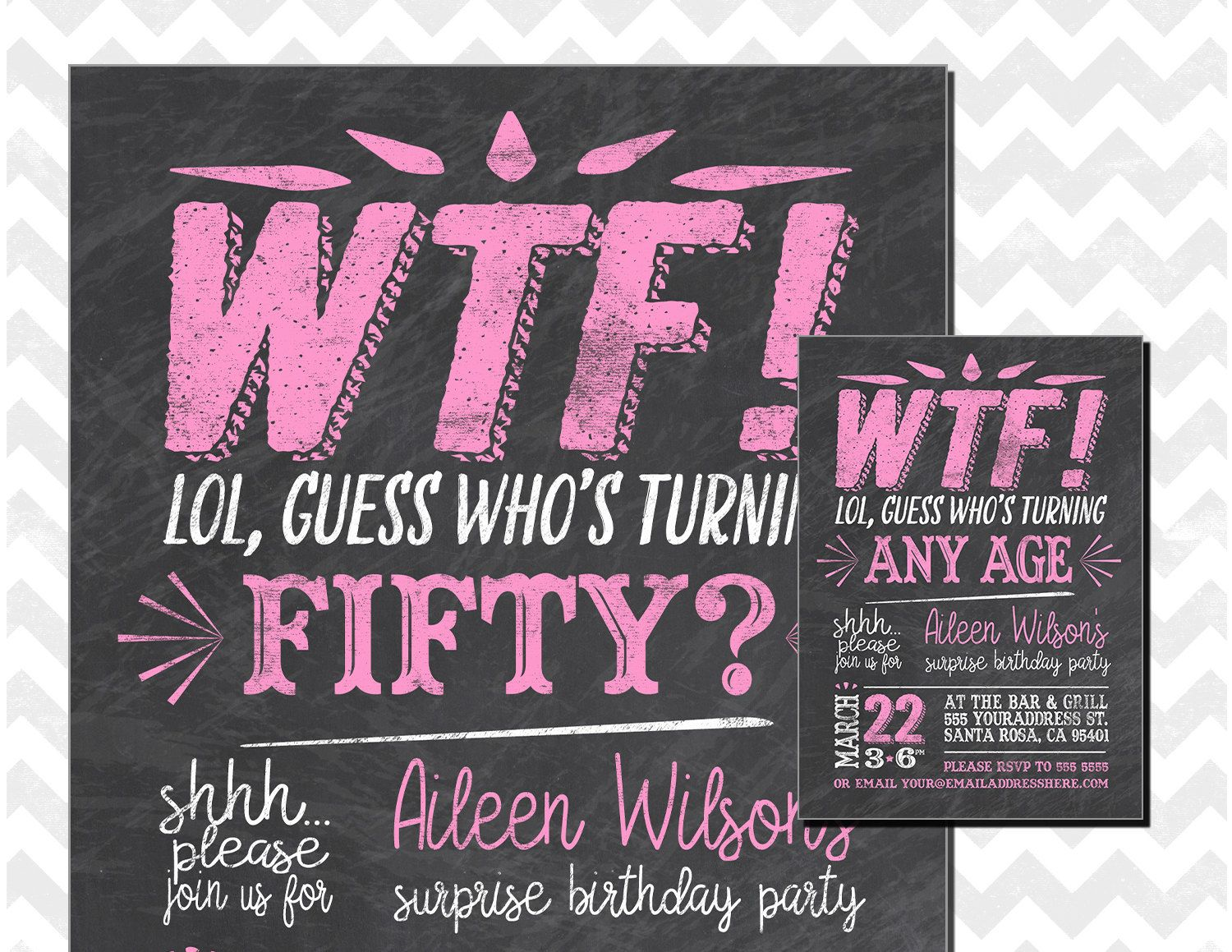 Who's Turning 50, WTF Turning 50, Surprise 50th Birthday