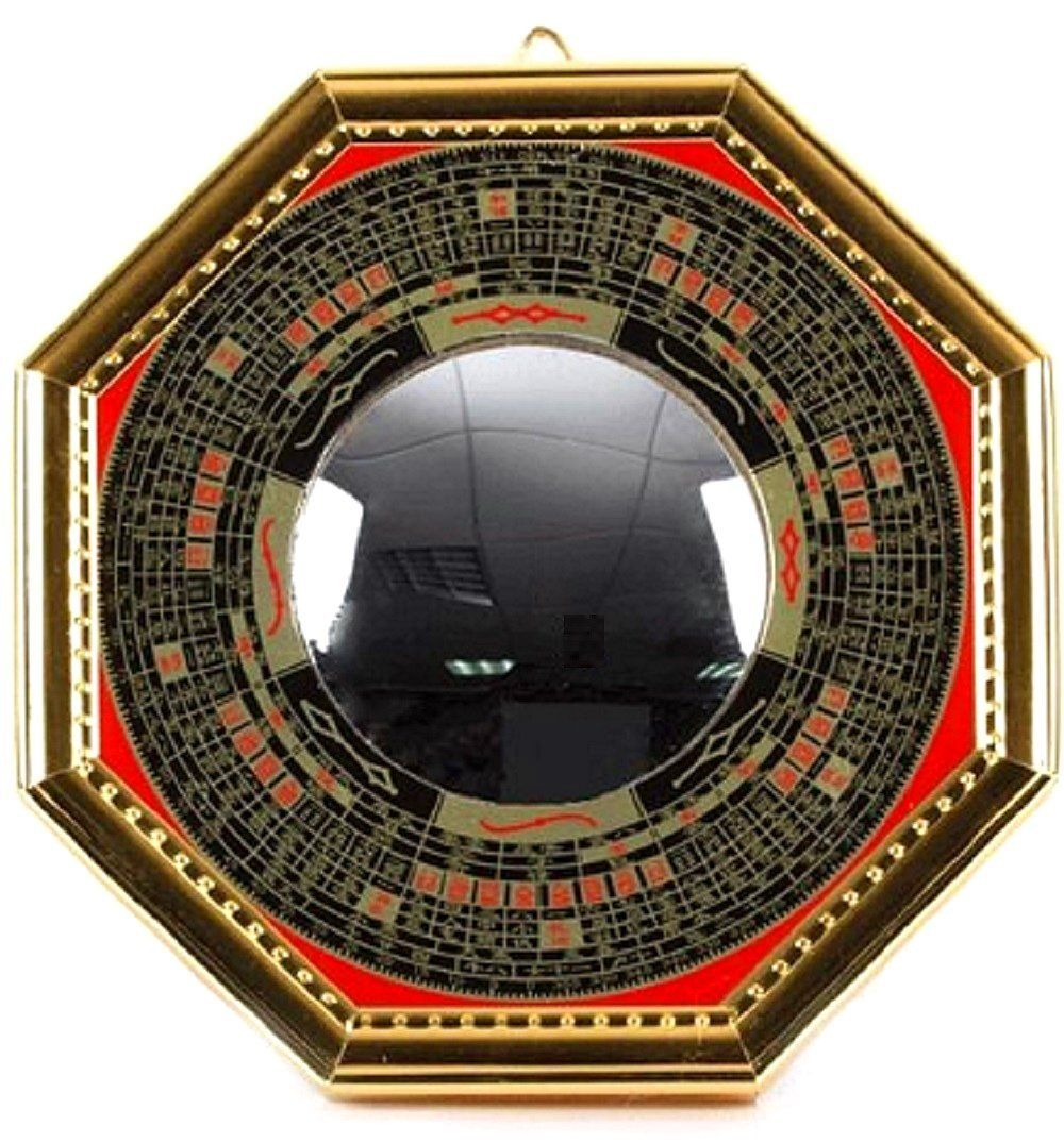 T2c Bagua Luo Board Convex Mirror Back Gold Chinese Feng Shui Entrance Mirror Goods For Powerful Luck And Success You Can Find More Detail Feng Shui Entrance Convex Mirror Mirror