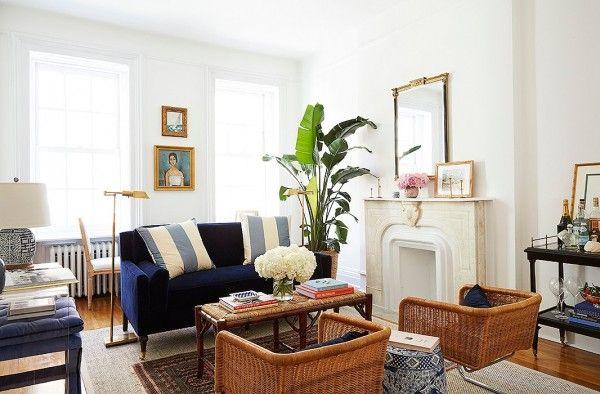 A Fresh, Preppy New York Apartment | Interior Inspiration | Living ...