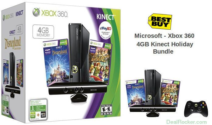 $50 Off Xbox 360 4GB Kinect Holiday Bundle at BestBuy