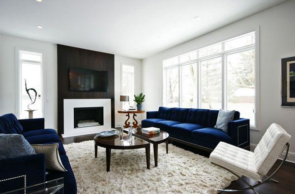 20 Impressive Blue Sofa In The Living Room Home Design Lover Blue Sofas Living Room Blue Couch Living Room Blue Living Room Decor