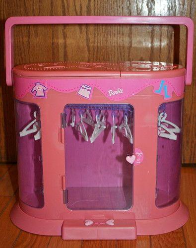 1998 MATTEL-BARBIE-CLOTHES CLOSET-ARMOIRE-STORAGE-HANGERS-WARDROBE- & 1998 mattel-barbie-clothes closet-armoire-storage-hangers-wardrobe ...