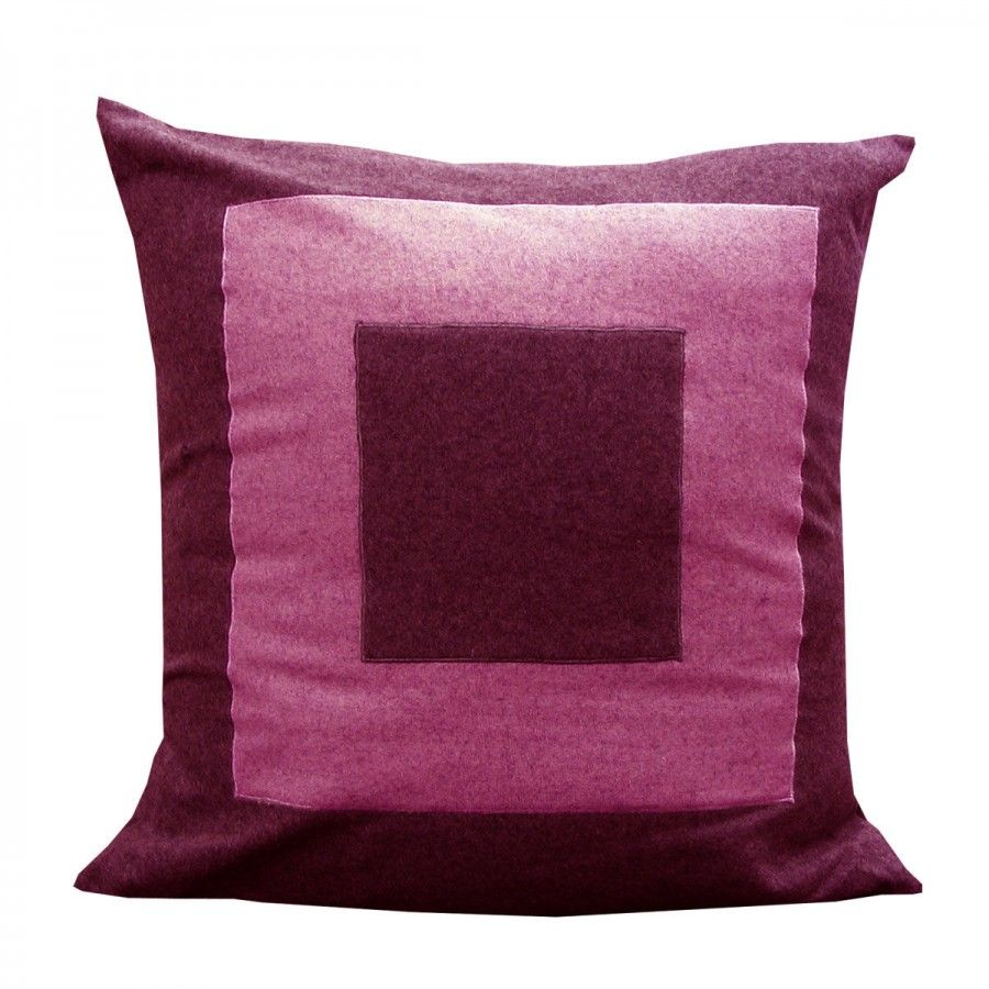 Double Square FuschiaPink Pillow Shell