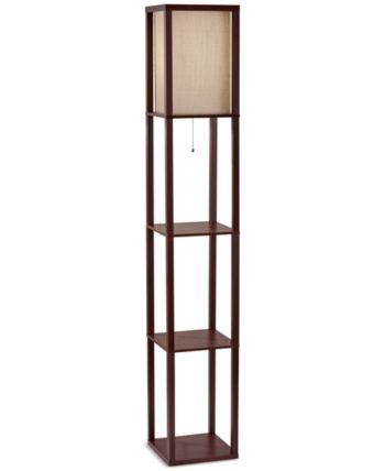 Adesso Wright Shelf Floor Lamp Reviews All Lighting Home Decor Macy S Floor Lamp With Shelves Floor Lamp Retro Floor Lamps