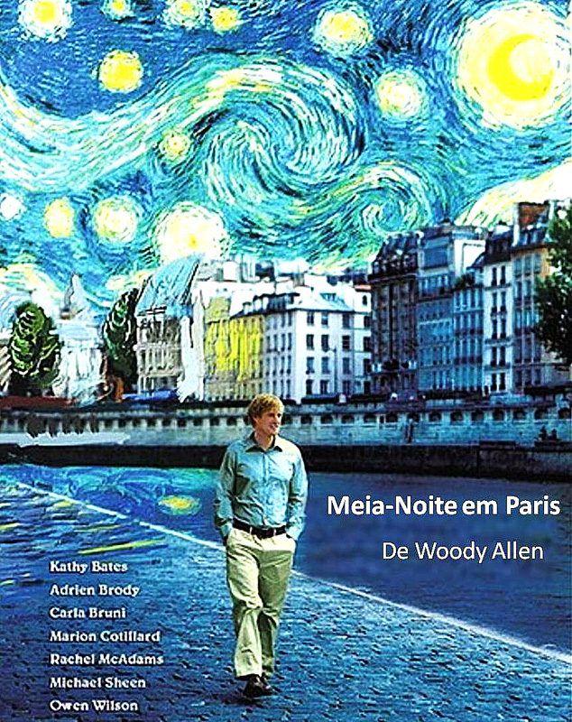 Cartaz alternativo do filme Meia Noite em Paris.