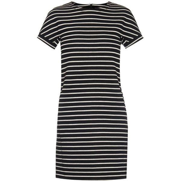 Striped Stretch-knit Dress - Black Max Mara aAKv1