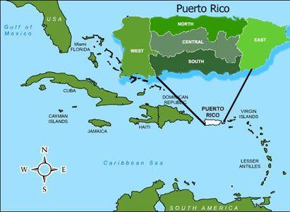 Puerto Rico Globo Terraqueo Pinterest Puerto Rico Map - Puerto rico united states map