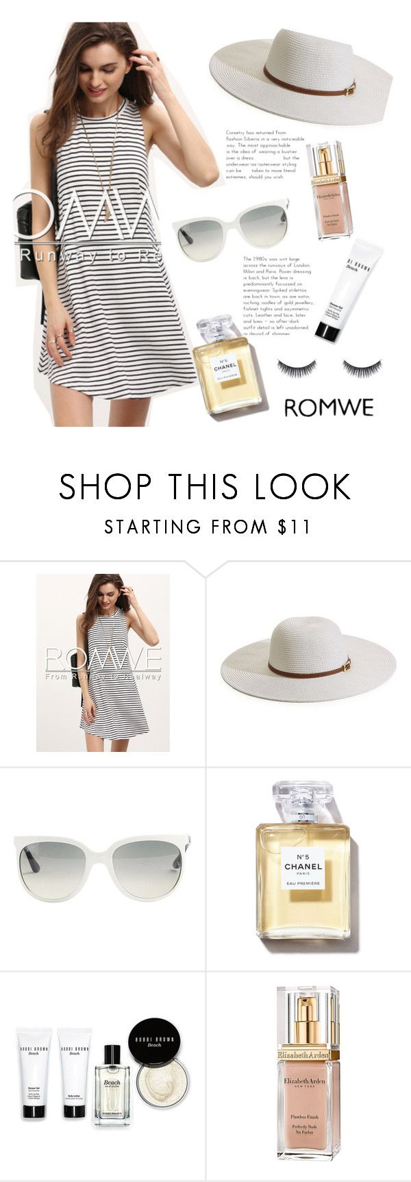 """""""Spring ❣"""" by leillana ❤ liked on Polyvore featuring Melissa Odabash, Ray-Ban, Bobbi Brown Cosmetics and Elizabeth Arden"""