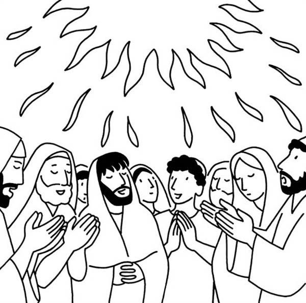 Pentecost the holy spirit comes bible nt pentecost for Pentecost coloring pages
