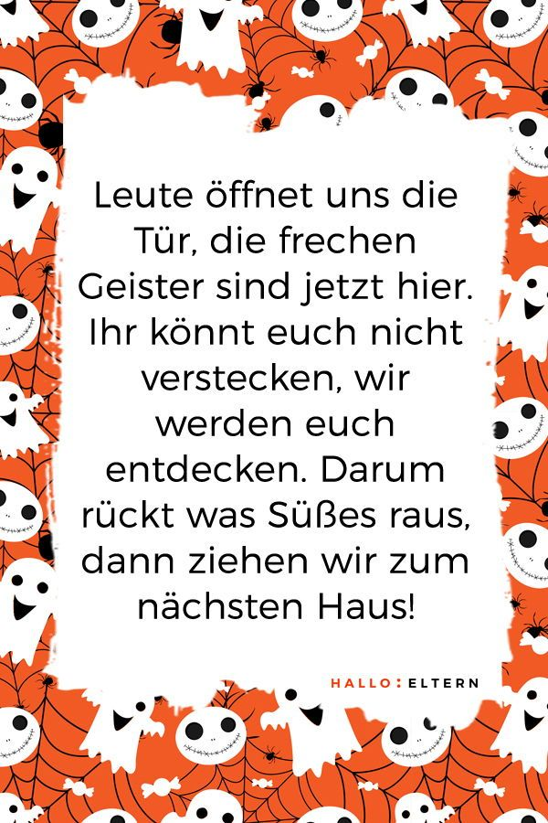 30+ Halloween-Sprüche für kleine Geister und Monster ??