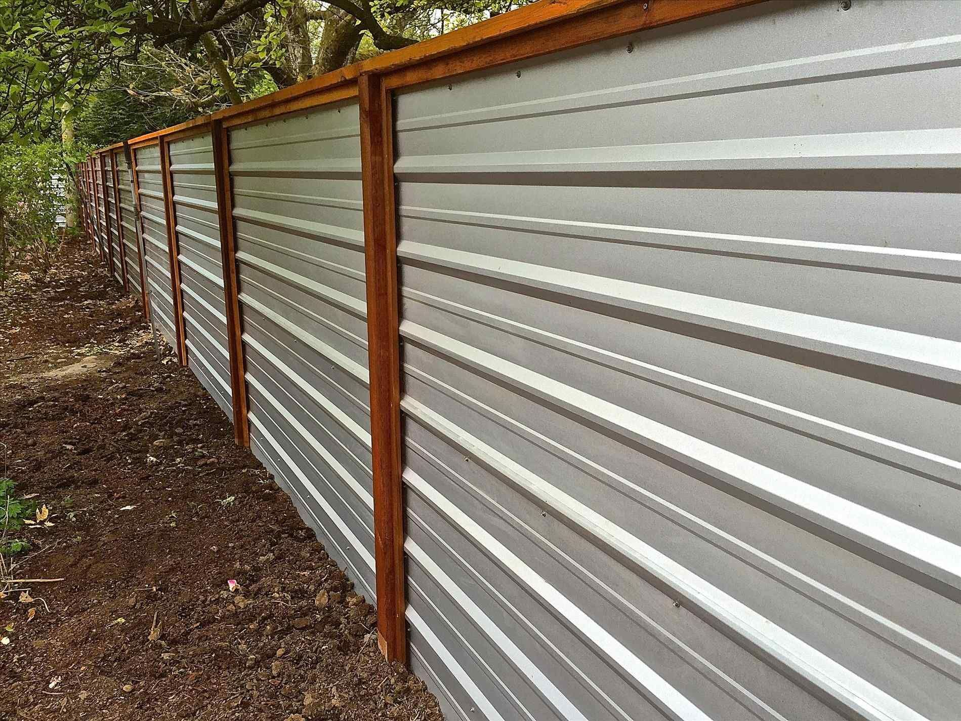Galvanized Corrugated Metal Roofing Panels Home Roof Ideas Corrugated Metal Fence Cheap Privacy Fence Metal Fence Panels