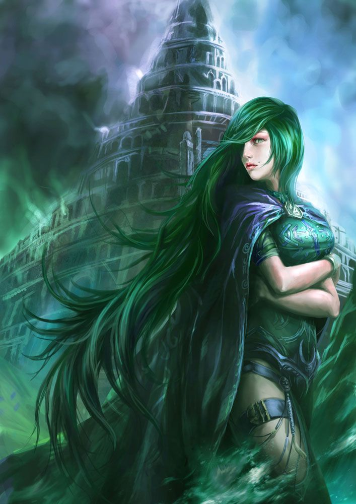 Female Characters With Green Hair : female, characters, green, Shadow, Green, Girl,, Anime, Hair,
