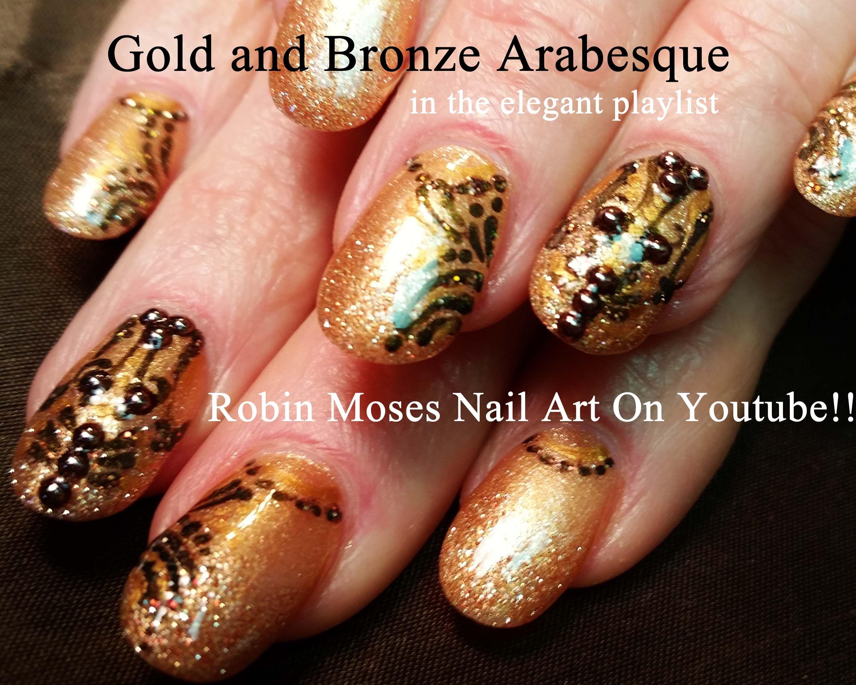 6 Nail Art Tutorials | DIY Easy Fall Nails | Gold Nail Design with ...