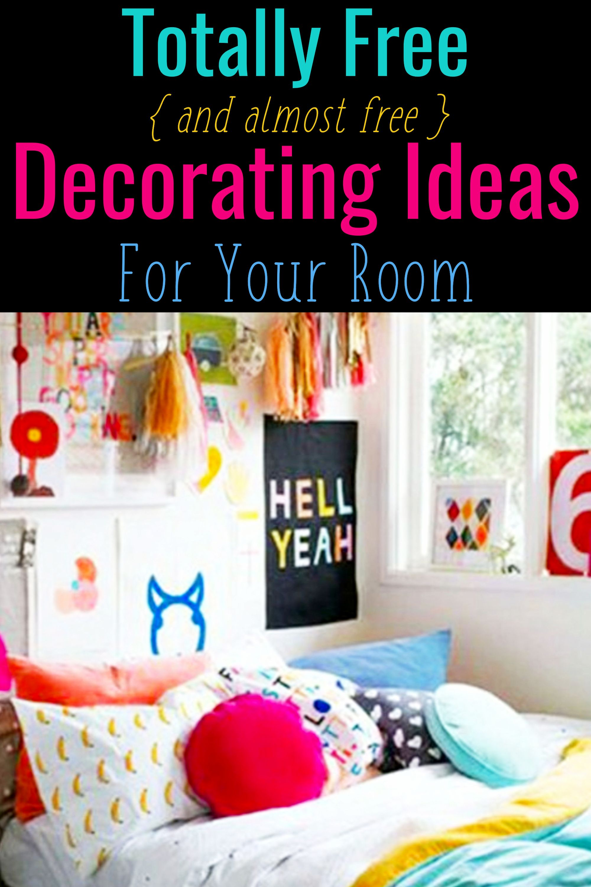 How To Decorate Your Room Without Buying Anything Decorating Tips Tricks Creative Home Decor Cheap Bedroom Ideas Decorate Your Room