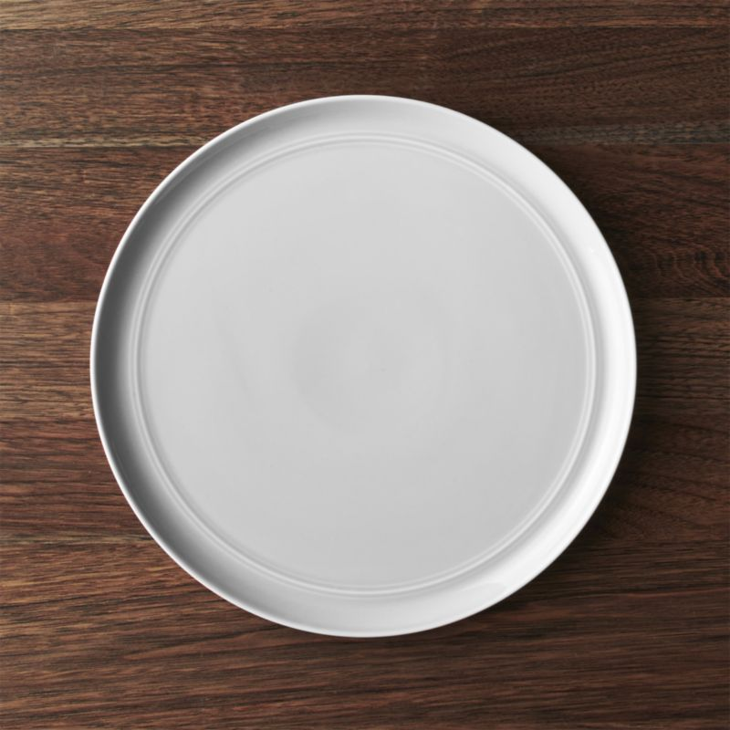 Shop Hue Light Grey Dinner Plate. Our fresh contemporary porcelain pattern & Hue Light Grey Dinner Plate - Crate and Barrel   Grey dinner plates ...