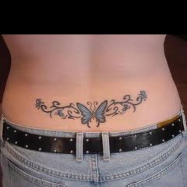 Tramp Stamp Changing And Finishing The Butterflies To Erase Man Memories Thank Goodness