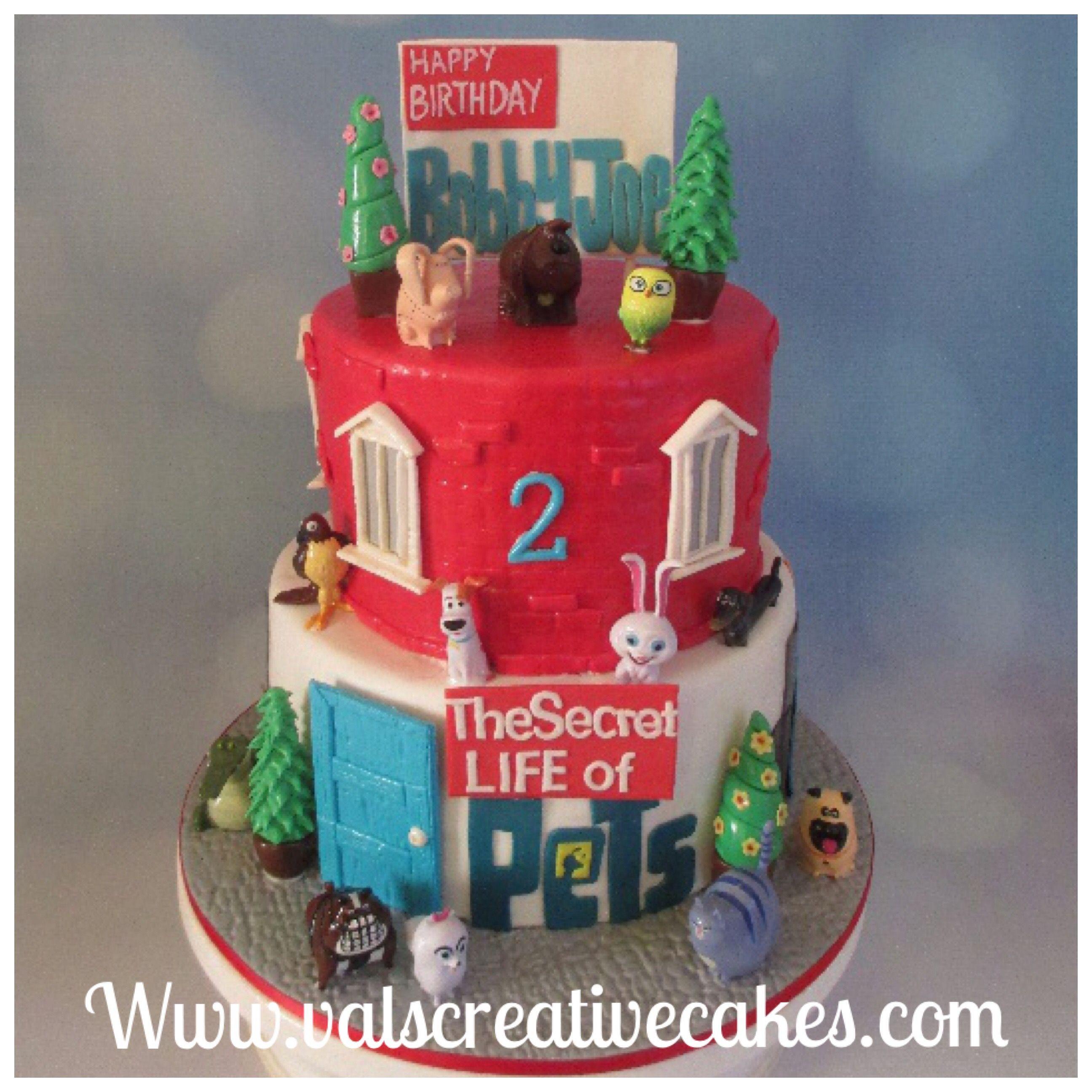 Secret Life Of Pets Birthday Cake La Vida Secreta De Tus