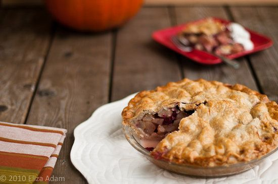Pear Cranberry Pie: It's never too early in the year for a pie that evokes the holidays, and this pear cranberry pie would be delicious whether it's accompanying your Thanksgiving spread or a regular weeknight dinner.   Source: Flickr User 3liz4
