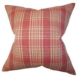 Perfect for refreshing your cosy reading nook or kitchen bench, this cotton cushion features a plaid design. Team with bare wood and minimal decor for a contemporary look.  Product: CushionConstruction Material: Cotton cover and polyester insertColour: Red and naturalFeatures:  Insert includedReversible with same fabric on both sidesHidden zipper for easy removal and cleaning All sides have clean knife edge finishDimensions: 46 cm x 46 cmCleaning and Care: Professional cleaning recommended