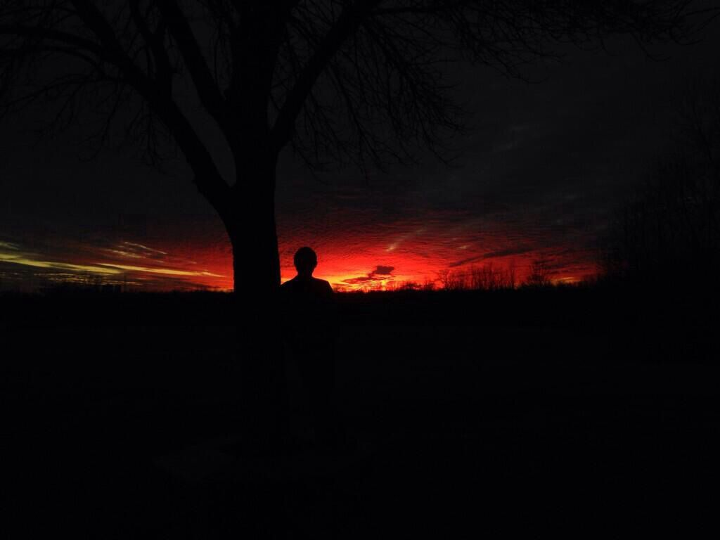 Picture of me looking into the sunset
