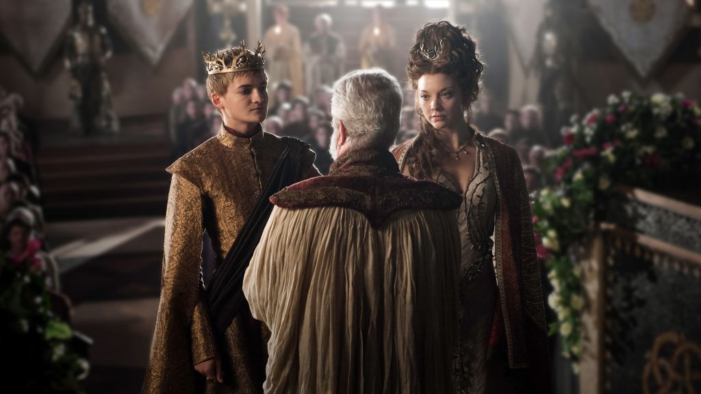 The Purple Wedding Joffrey Margaery And High Septon Marrying