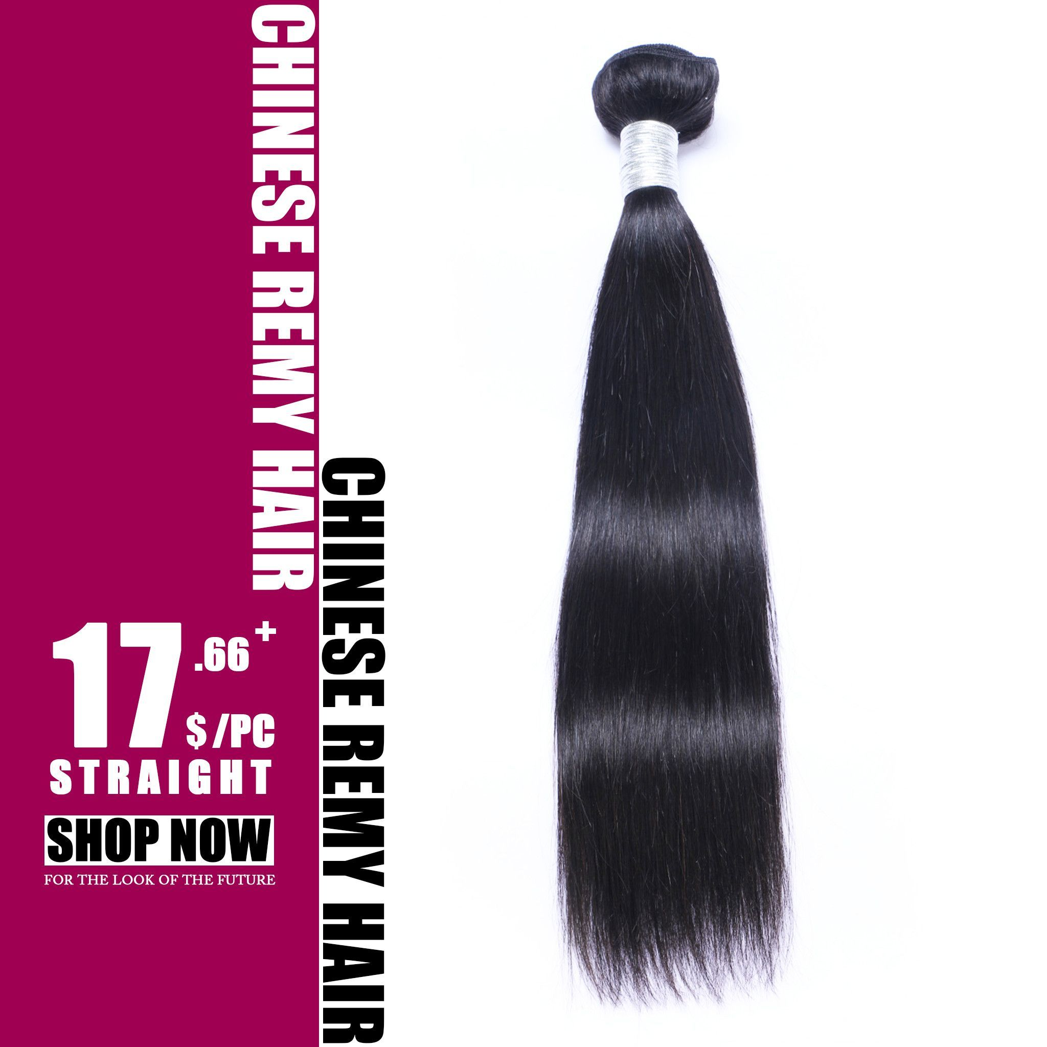 Natural Color Silk Straight Chinese Hair Extension Cst01