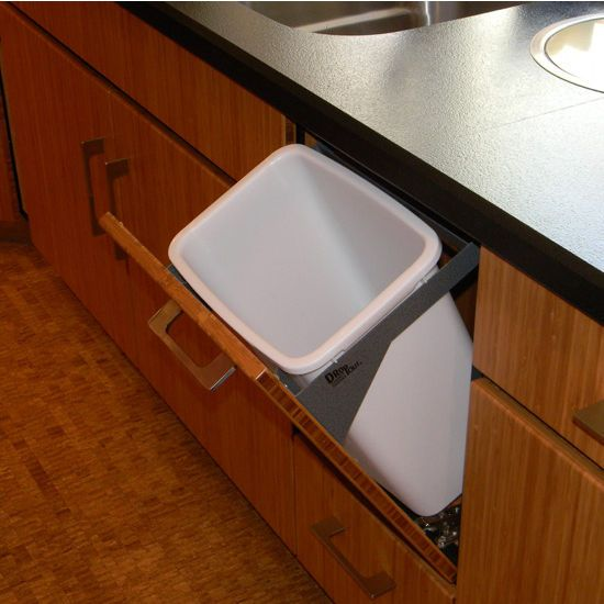 Extends 11 Inches Into The Room When Opened And Soft Closes With A Touch Of Your Fingertips This Dcf 8012 24 Quart 6 Gall Wet Bar Sink Trash Can Waste Basket