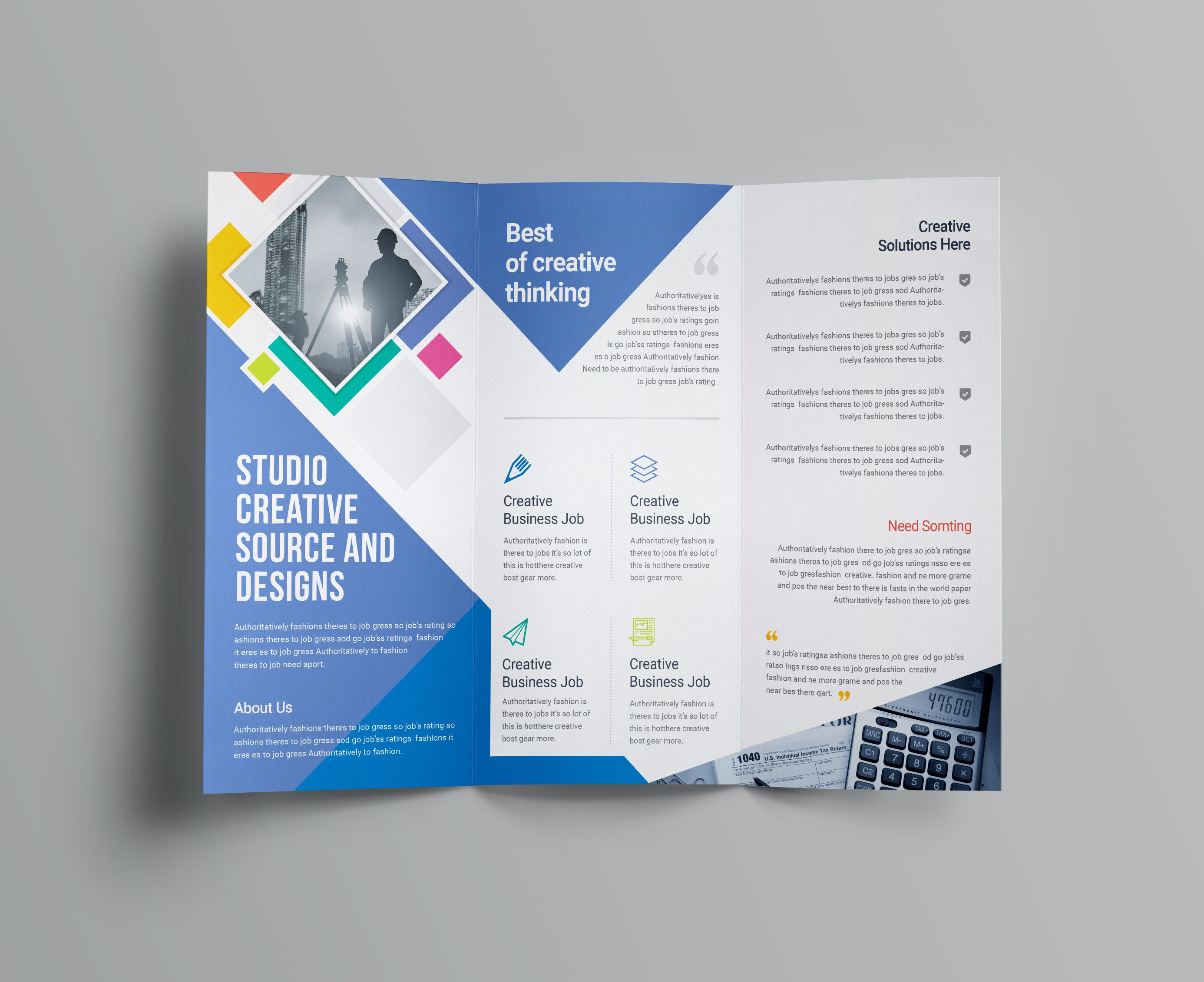 Neptune Professional Corporate Tri Fold Brochure Template Graphic Templates Free Business Card Templates Business Card Template Psd Free Brochure Template