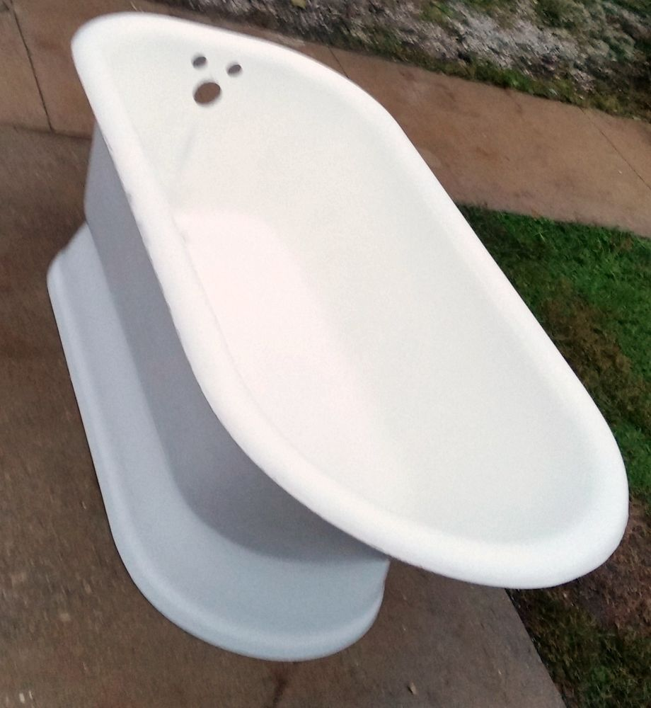 Antique Kohler Cast Iron Pedestal Original Porcelain BathTub Made ...