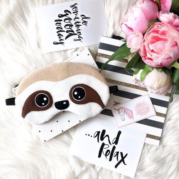 Sloth sleep mask Sloth gifts Eye Mask Sloth lover gift Cute Sleeping mask Gift Pajamas