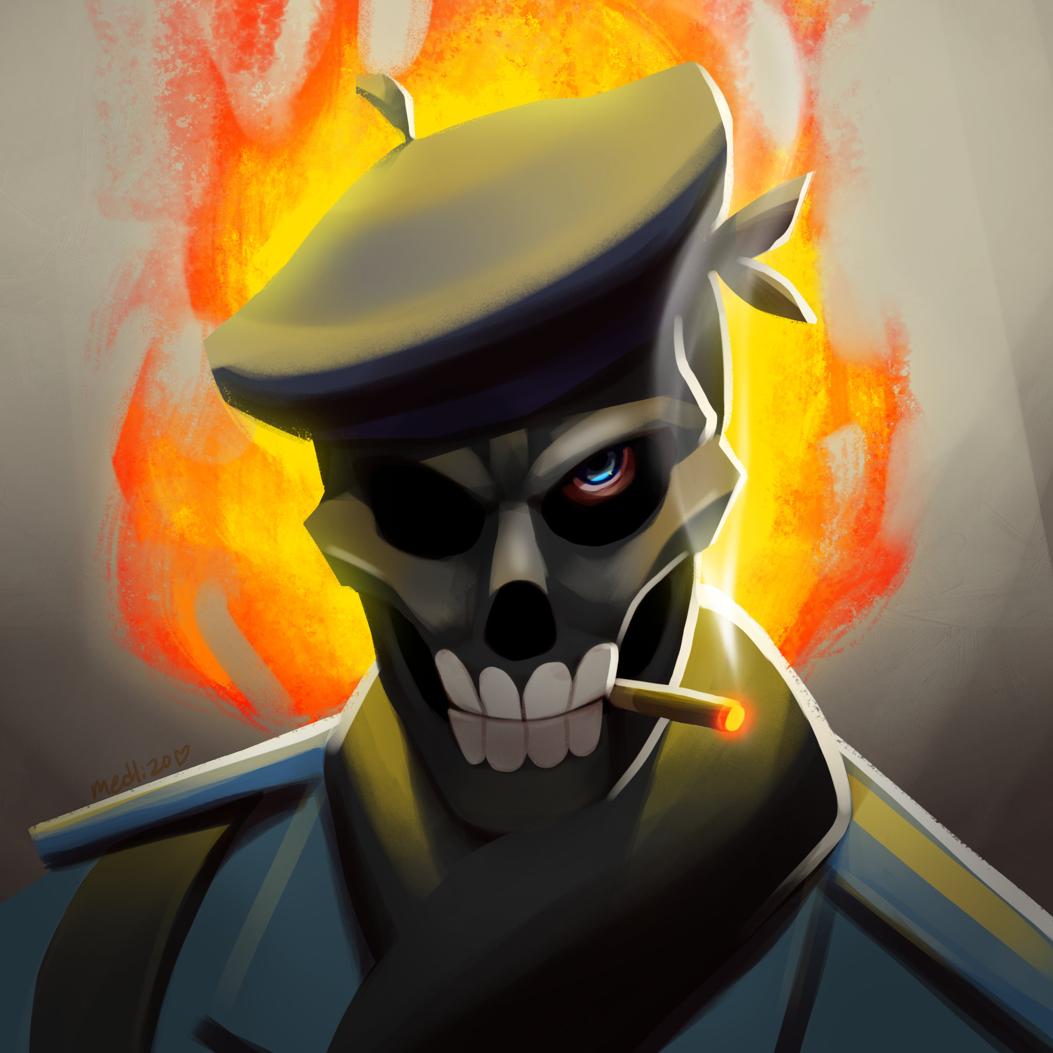 a loadout icon i painted for a cool dude games teamfortress2