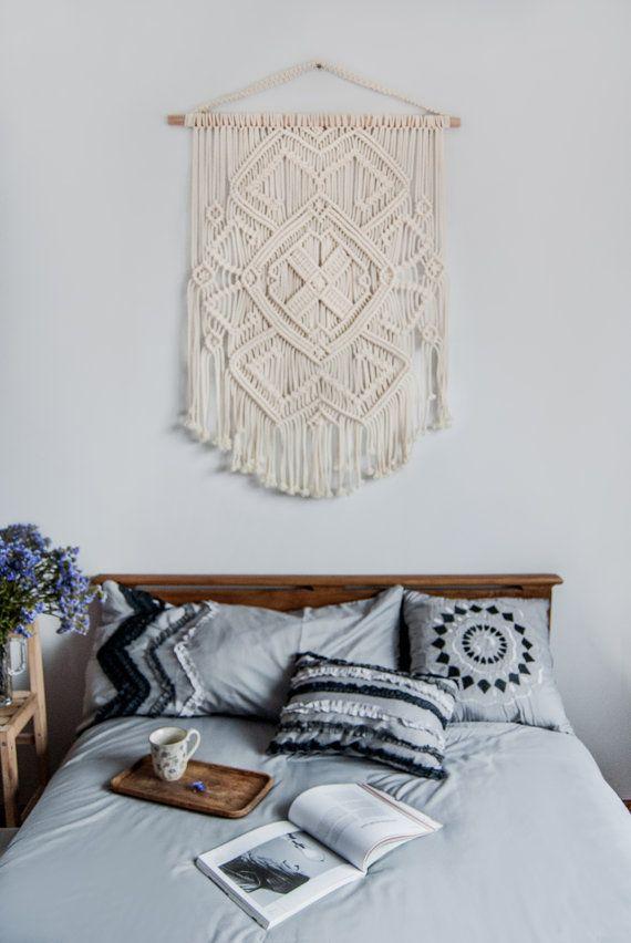 modern macrame woven wall art yarn wall art deco inspo pinterest macram tenture murale. Black Bedroom Furniture Sets. Home Design Ideas
