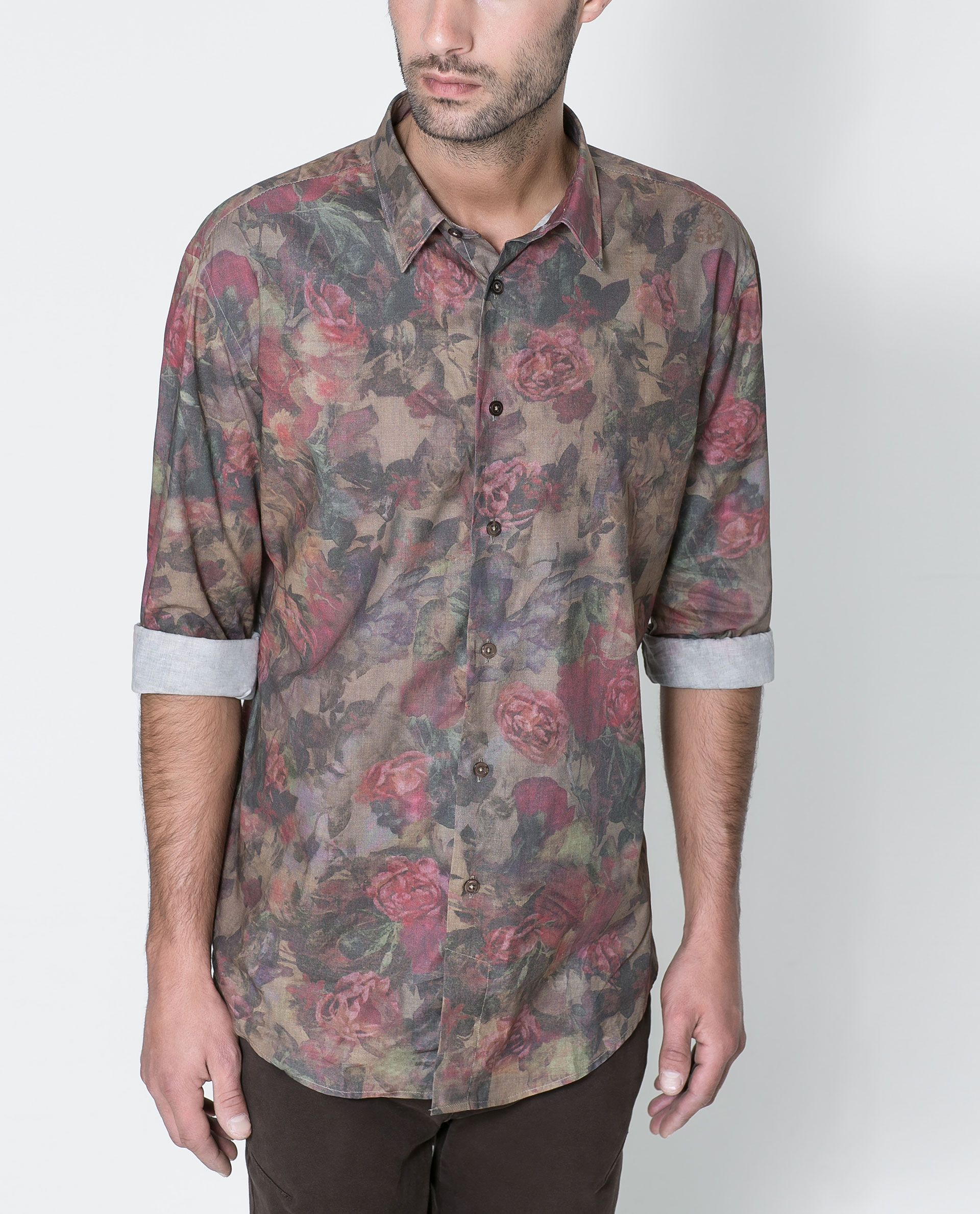 Flower shirt zara france menswear pinterest for Zara mens floral shirt