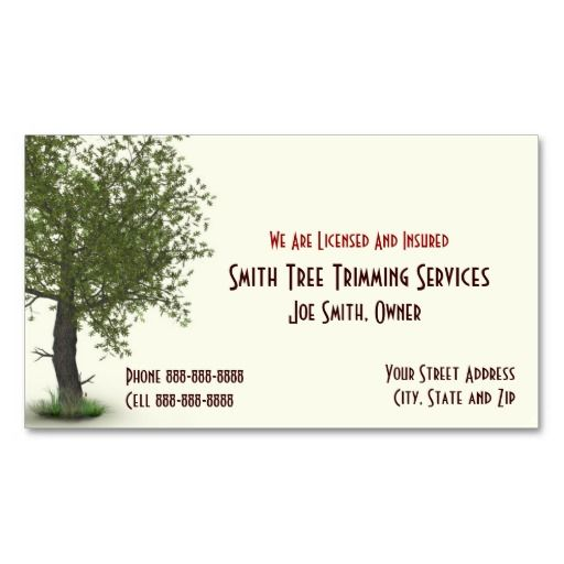 Tree Trimming Care Services Business Card Zazzle Com Services Business Tree Trimming Business Cards Tree services business cards