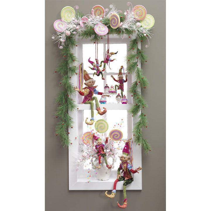 Candy Wonderland arrangement | Christmas window ...