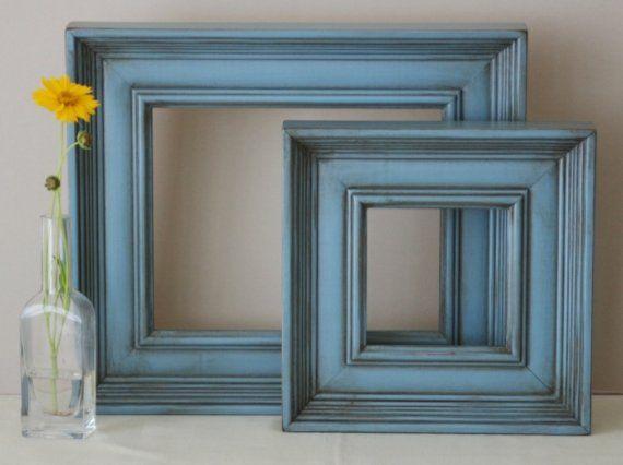 Antiqued wood frames