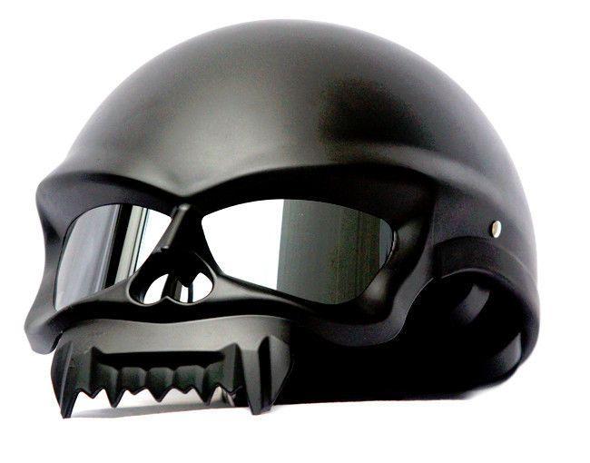 Masei 429 Motorcycle Chopper Open Face Helmet MATT BLACK M L XL