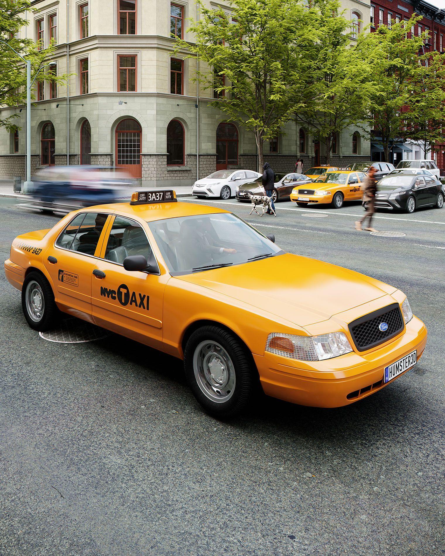 картинки желтого такси фотографировать двух сторон
